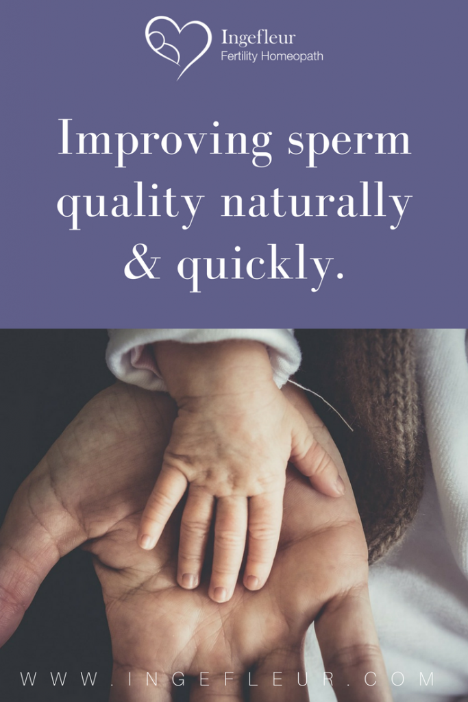 Improving sperm quality naturally & quickly
